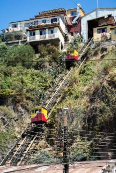 CHILI Valparaiso ascensor espiritu santo Cerro Bellavista