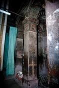Pilier sculpté XII°s Eglise Bete Maryam à Lalibela ville sainte des chrétiens orthodoxes.Février 1996. Ethiopie. Lalibela est une ville de la région Amhara, dans le nord de l'Éthiopie. Altitude : 2 630 m