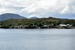 CHILI Patagonie Croisière sur ferry desservant Puerto Natales à Puerto Montt Puerto Eden Déchargement en rade